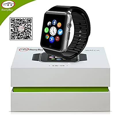 Starrybay Smart Watch Phone/Bluetooth 4.0 / Easily Connect/Make Calls/Support Sim/Tf
