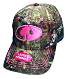 Mossy Oak Womens Camo Cap with Hot pink logo and Trim