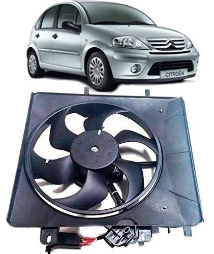 Eletroventilador Ventoinha Radiador Citroen C3 1.4 8V e 1.6 16V de 2003 À 2008 Com Módulo