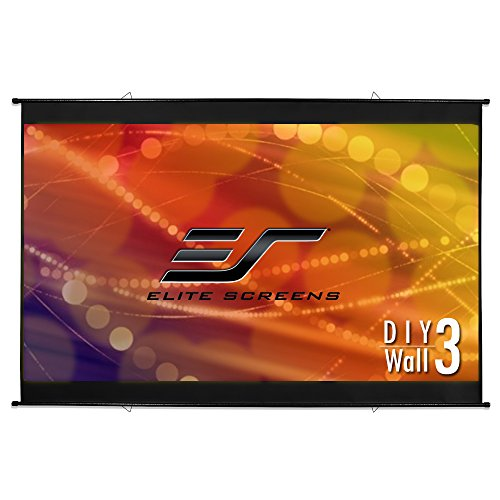 Elite Screens DIY Wall 3 Series, 100-inch Diagonal,16:9, Do-It-Yourself Indoor & Outdoor Wall Projection Screen, Model: DIYW100H3 by Elite Screens