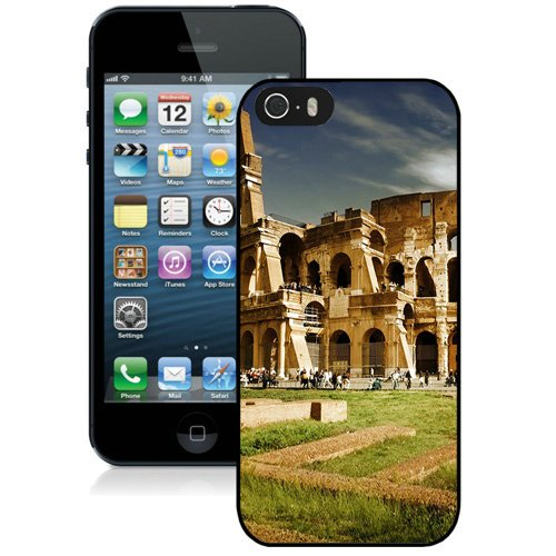 Coque,Fashion Coque iphone 5S Colosseum Italy Architecture Noir Screen Cover Case Cover Fashion and Hot Sale Design