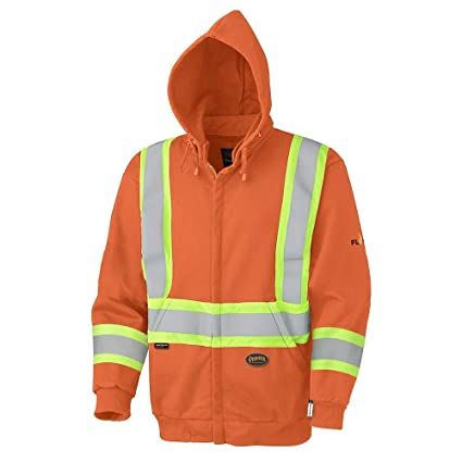 6dc7ccb159e Pioneer V2570450-L Flame Resistant Heavyweight Safety Hoodie