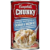 Campbell's Chunky Soup, Baked Potato with Cheddar & Bacon Bits, 18.8 Ounce (Pack of 12)