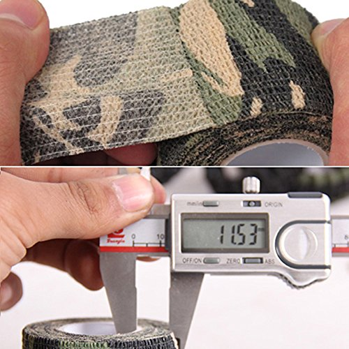 Gilroy 5CM X 4.5M Outdoor Camo Camouflage Wrap Tape for Hunting Rifle Gun Cycling Tool - Grey by Gilroy (Image #1)