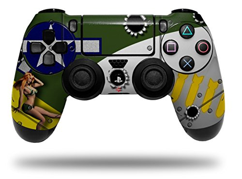 Vinyl Skin Wrap for Sony PS4 Dualshock Controller WWII Bomber War Plane Pin Up Girl (CONTROLLER NOT INCLUDED)]()