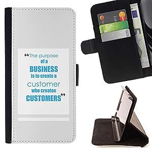 BullDog Case - FOR/HTC One M9 / - / business customers service inspiring work /- Monedero de cuero de la PU Llevar cubierta de la caja con el ID Credit Card Slots Flip funda de cuer