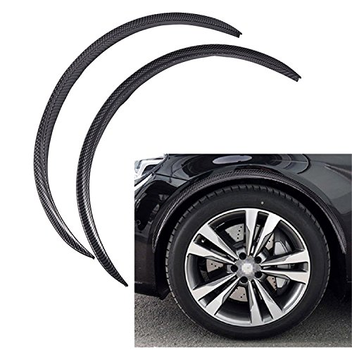 Universal 28.7″ Carbon Fiber Car Wheel Eyebrow Arch Trim Lips Fender Flares Protector 2pc/pack
