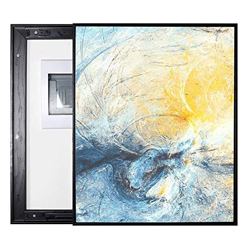 Abstract Meter Box Decorative Painting Push-pull Distribution Box Weak Box Cover Wall Stain Cover Cover Electric Gate Multimedia Box Switch Decoration ( Color : Black , Size : (5060cm 4050cm) )