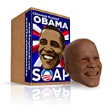 Chocolate Obama Soap Head - Mini 3D Obama Soap Head in Chocolate Scent