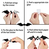 DIYASY Bats Wall Decor,120 Pcs 3D Bat Halloween