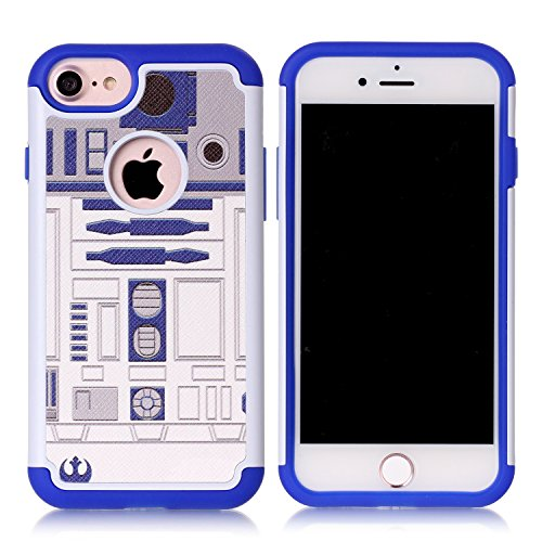 - Iphone 8 Case,Iphone 7 Cover - R2D2 Astromech Droid Robot Pattern Shock-Absorption Hard PC and Inner Silicone Hybrid Dual Layer Armor Defender Case Cover for Apple iphone 7 and Apple iphone 8