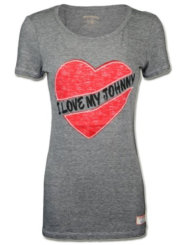 True Religion Damen Designer Shirt -I LOVE JOHNNY-L