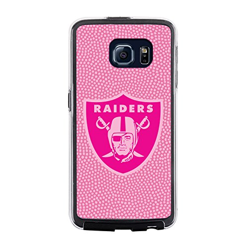 NFL Oakland Raiders Football Pebble Grain Feel No Wordmark Samsung Galaxy S6 Case, Pink from Game Wear, Inc.