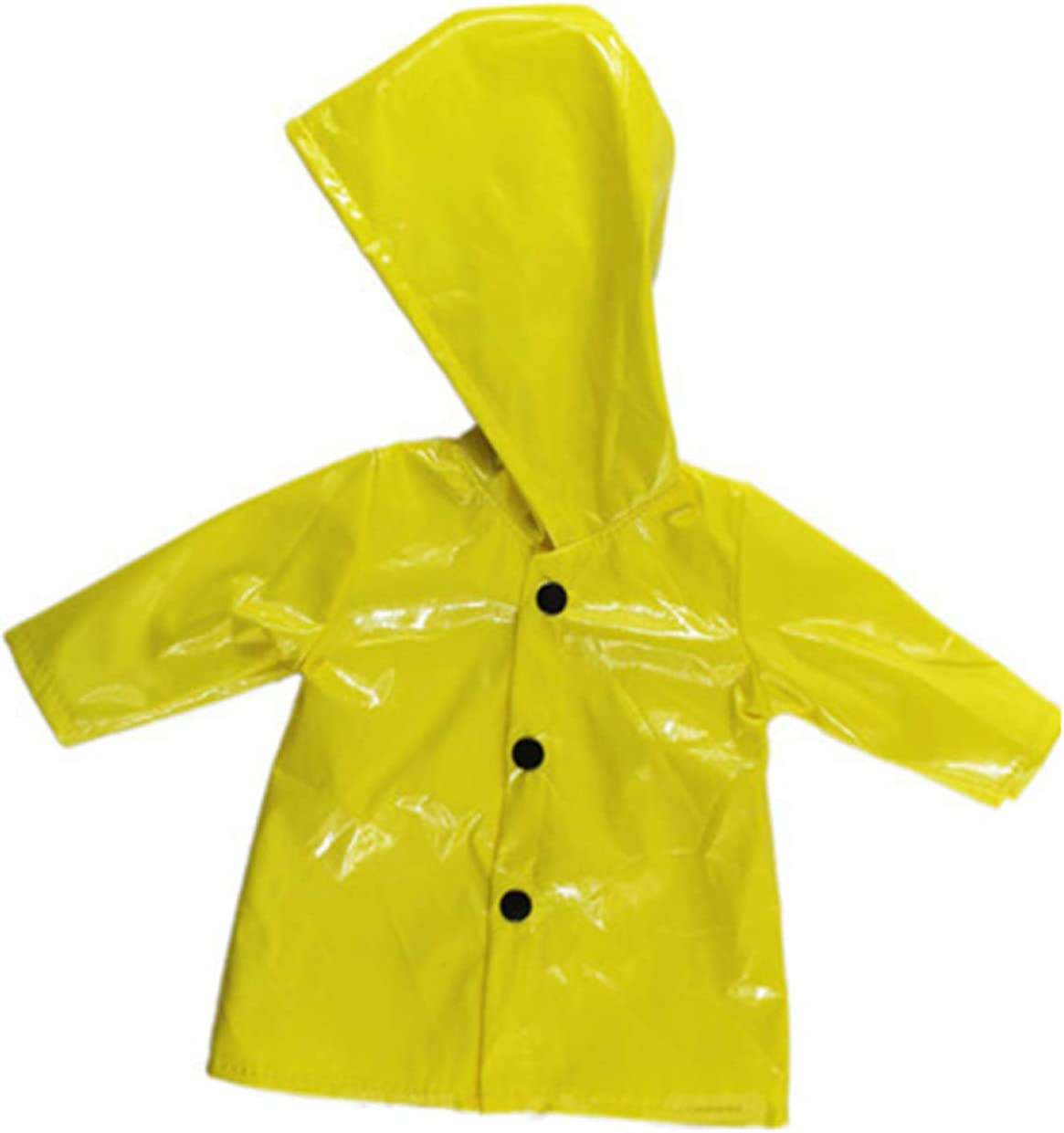 None yellow Loparker inconceivable Pretty Outfit Clothes Yellow Hooded Raincoat fits 43cm-45cm dolls for kids