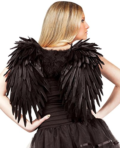 Deluxe Feather Angel Wings (Black)