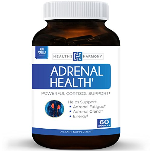 Best Adrenal Support - Comprehensive Adrenal Health with L-Tyrosine & More - Helps maintain Balanced Cortisol Levels - Helps Stress Relief - Fatigue Manger Supplement - 60 Capsules