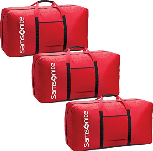 Samsonite Tote-a-ton 33 Inch Duffle Luggage (One Size, Red - 3 Pack Boxed) (Bag Zippered Tote Tone)