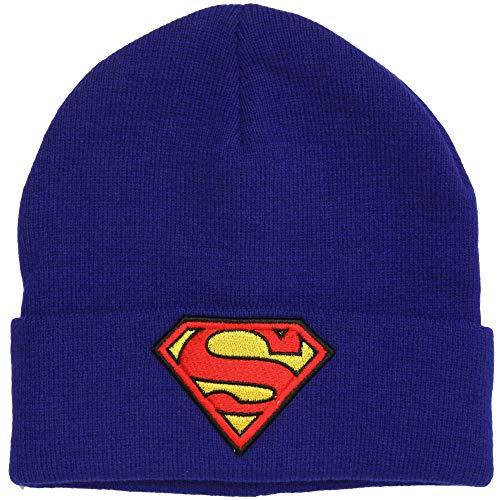 DC Comics Superman Logo Cuffed Adult Beanie]()