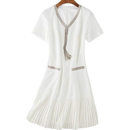 Vestido, Dobladillo Largo Plisado Falda Delgada Plisada 4 tamaños ...