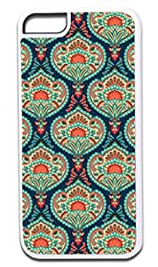 01-Ornate Paisley Case for the APPLE IPHONE 6 ONLY!!!-NOT COMPATIBLE WITH THE IPHONE 6 PLUS!!!-Hard White Plastic Outer Case