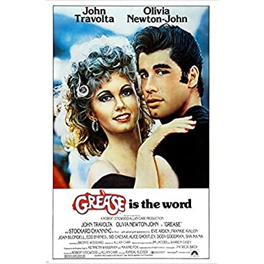 classic movie poster GREASE olivia NEWTON JOHN john TRAVOLTA 50's 24X36 (reproduction, not an original)