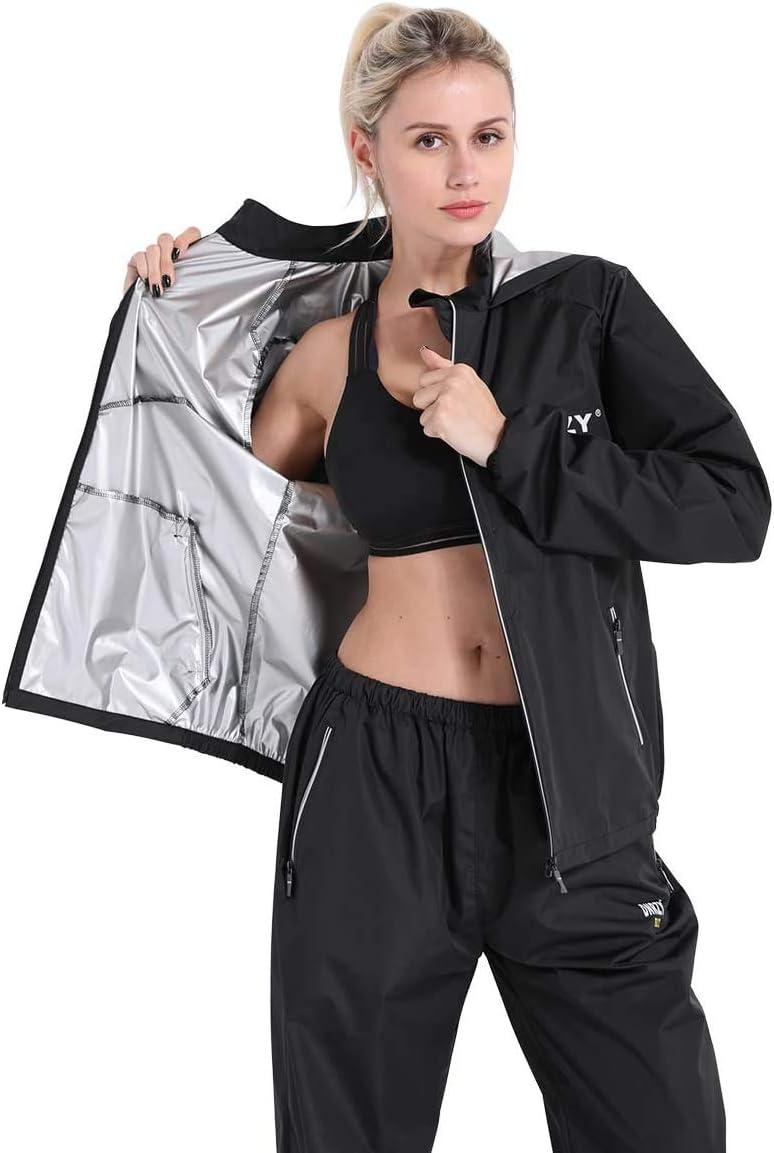 DNRZY F.I.T Sweat de sauna pour homme et femme /à manches longues imperm/éable Noir