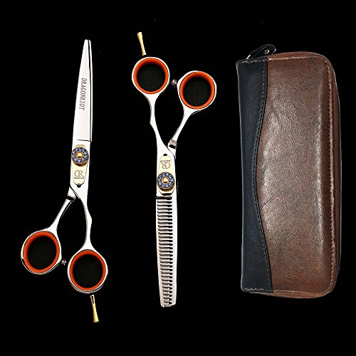 Feng Chun Professional Hair Scissors Shears Razor Edger Haircut Set Barber Scissors Scissors Thinning For Hairdressers Scissors Hair Professional Hair Cutting Shears Japanese Stainless Steel (Hair Professional Shears)
