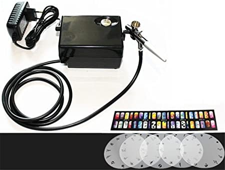 Abestair Salon Airbrush Nail Art System Compressor Kit With Airbrush