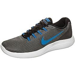 NIKE Men's Lunarconverge Running-Shoes, Dark Grey/Ay Blue/White/Black, 11.5 D US