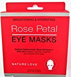 Nature Love Rose Petal Eye Masks, Brightening and