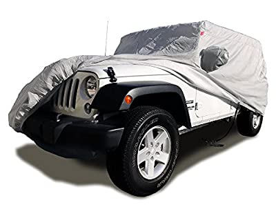CarsCover Custom Fit 2004-2018 Jeep Wrangler Unlimited JK 4 Door Sport / Sahara / Rubicon SUV Wagon Car Cover Heavy Duty All Weather Ultrashield