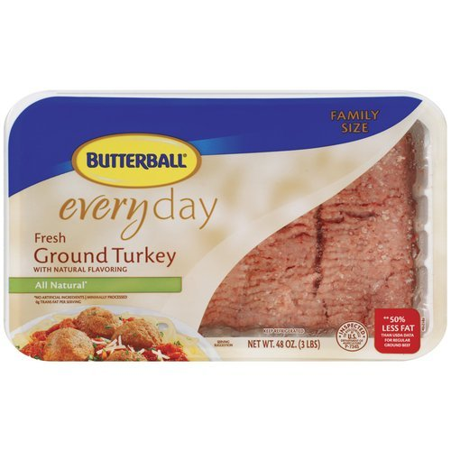 BUTTERBALL FRESH GROUND TURKEY ALL NATURAL 16 OZ PACK OF 3