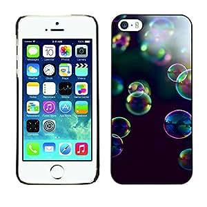 FlareStar Colour Printing Bubbles Soap Nature Reflective Summer cáscara Funda Case Caso de plástico para Apple iPhone 5 / iPhone 5S