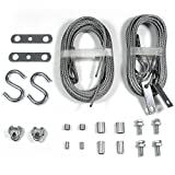 Ideal Security SK7248 Garage Door Cable Replacement Set, 2 Extension Cables and 2 Safety Cables