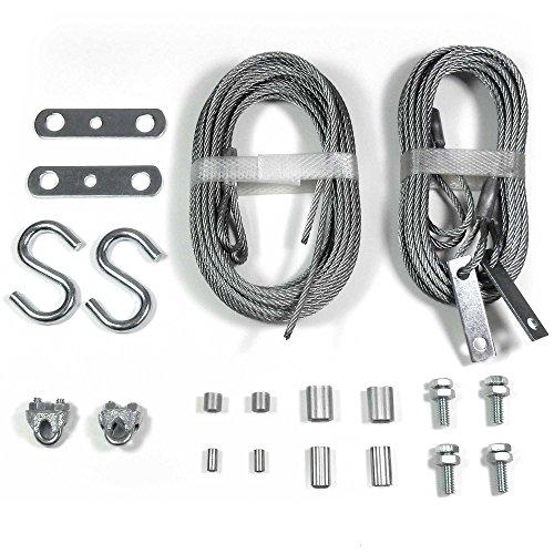 Ideal Garage Door (Ideal Security Inc. SK7248 Garage Door Replacement Set 2 Extension 2 Safety Cables)