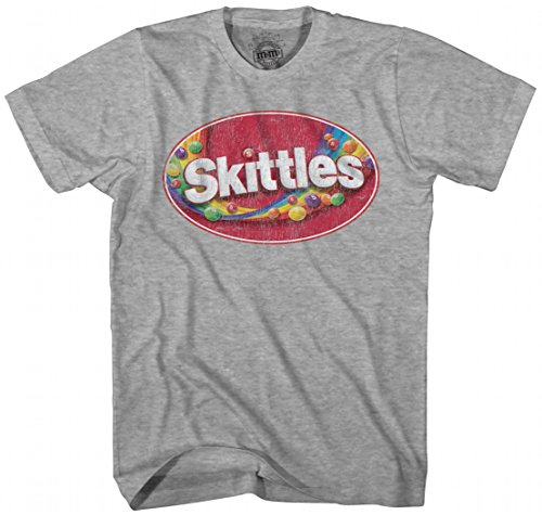 Skittles Tasty Colors Rainbow Candy Adult Men's Graphic Tee T-Shirt (3XL)]()
