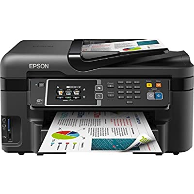 Epson C11CD19201 WorkForce WF-3620 Inkjet Multifunction Printer - Color - Photo Print - Desktop - Copier/Fax/Printer/Scanner - 33 ppm Mono/20 ppm Color Print - 19 ipm Mono/10 ipm Color Print (ISO) - 48 Second Photo - 4800 x 2400 dpi Print - 33 cpm Mono/20