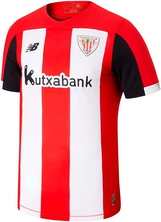 New Balance AC Bilbao Primera Equipación 2019-2020 Niño, Camiseta, Red-White, Talla LB: Amazon.es: Deportes y aire libre