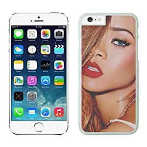 Beautiful Custom Designed Cover Case For iphone 6 Plus 5.5 Inch With Rihanna iphone 6 plus White 5.5 TPU inch Phone Case 378