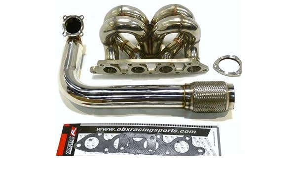 Amazon.com: OBX SUS Turbo Header Manifold 00-04 FORD FOCUS ZETEC 2.0L And Downpipe: Automotive