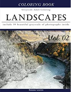 Amazon.com: Landscapes Coloring Book for Adults: An Advanced Adult ...