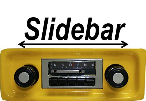 Custom Autosound Stereo compatible with 1967-1972 GMC Pickup Truck, 300 watt Slidebar AM FM Car Stereo/Radio