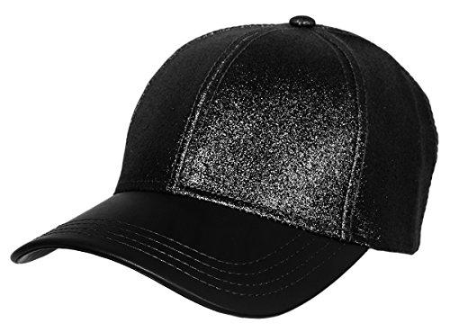 Kids 6 Panel Cap (H-6BA5-06 Glitter Baseball Cap -)