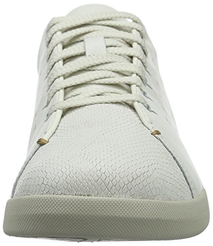 Clarks Damen Tri Abby Sneakers Weiß (White Leather)
