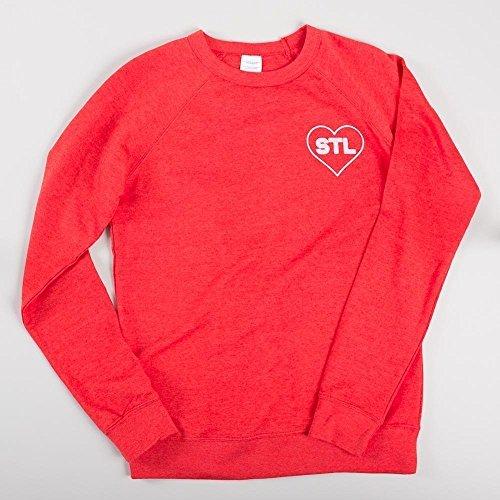 STL Sweatshirt | Red Heather | Lightweight Sweatshirt