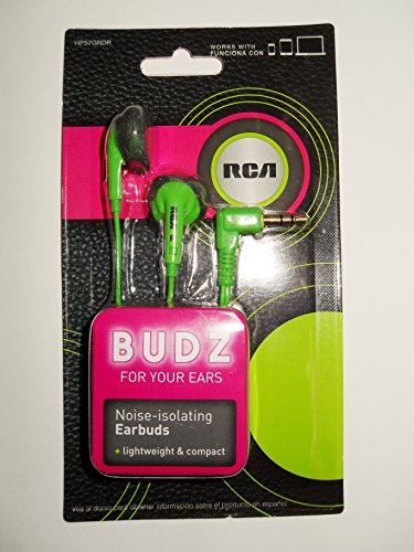 RCA BUDZ HP57GRDR Noise-isolating Earbuds, ()