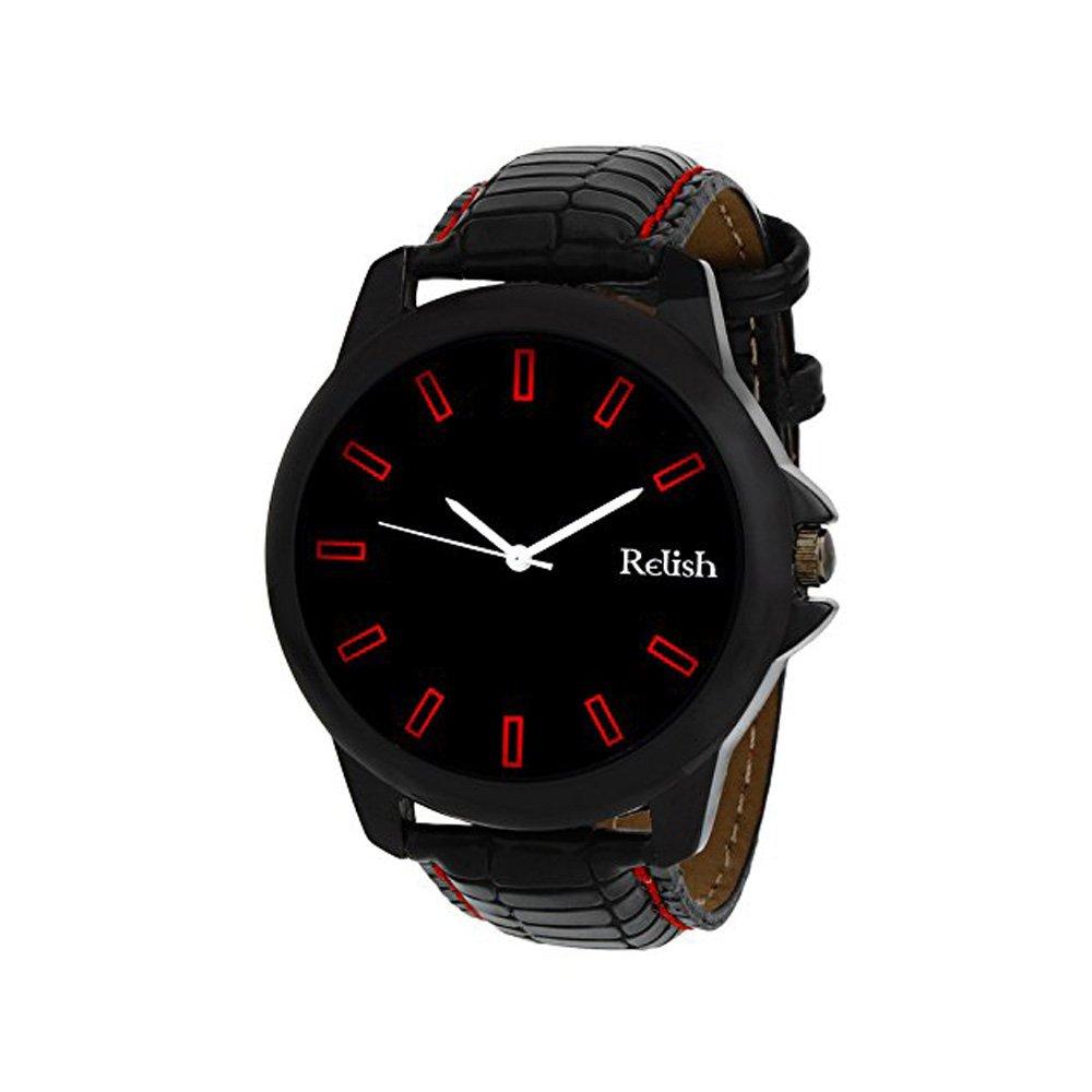Relish Men's Analog Black Dial Watch
