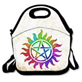 Multifunctional Lunch Bag, Cute Tie-dye Supernatural Emblem Lunch Tote Bag/ Backpack With Zipper Closure For Kids & Adults