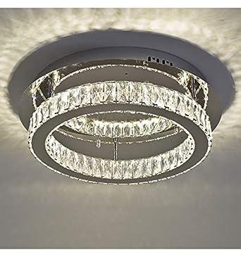 Lustre Plafonnier LED cristal cercle design (ø 45 cm) - Diez - EN ...