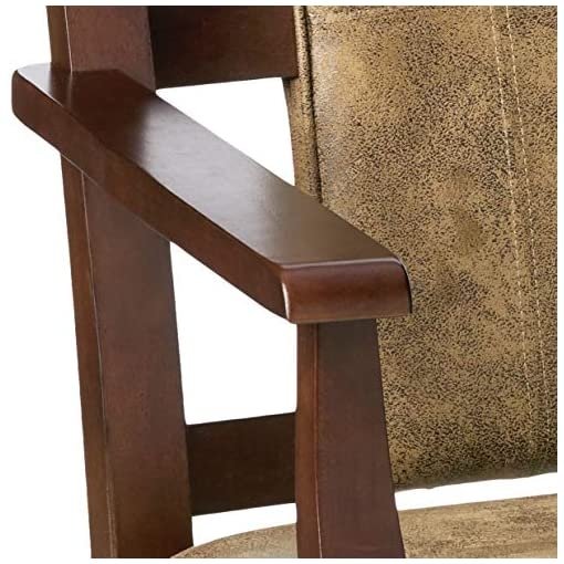 Farmhouse Accent Chairs ACME Butsea Rocking Chair – – Brown Fabric & Espresso farmhouse accent chairs
